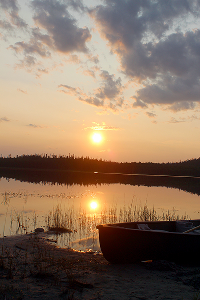 Sunset in Woodland Caribou Provincial Park