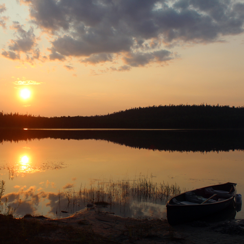 Sunset at Woodland Caribou Provincial Park